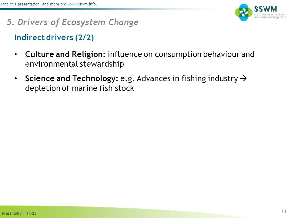 5. Drivers of Ecosystem Change