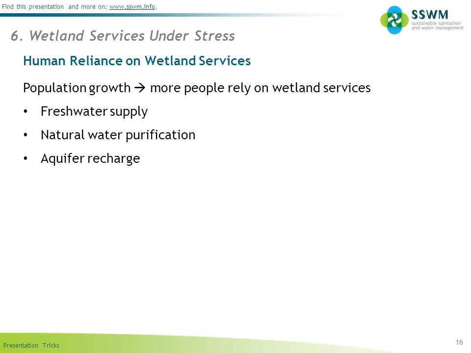 Human Reliance on Wetland Services