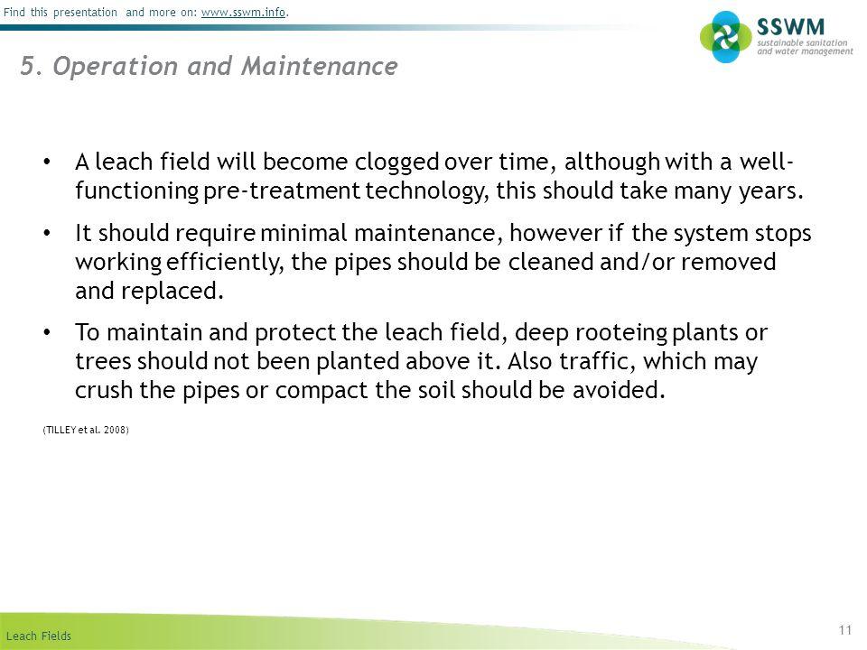 5. Operation and Maintenance