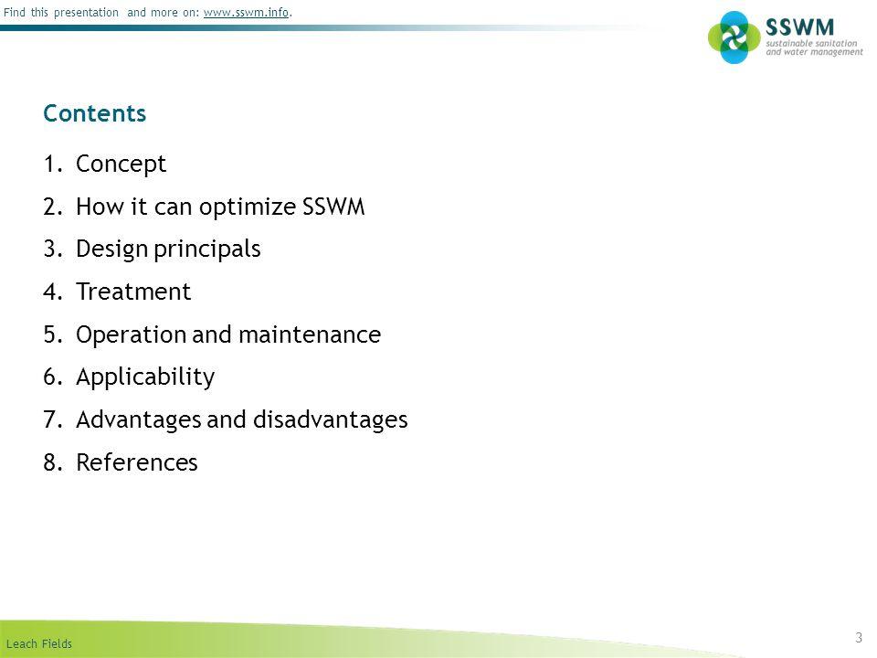 How it can optimize SSWM Design principals Treatment