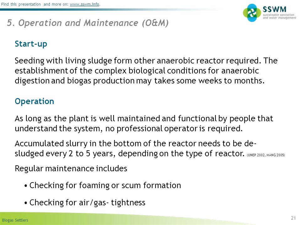 5. Operation and Maintenance (O&M)