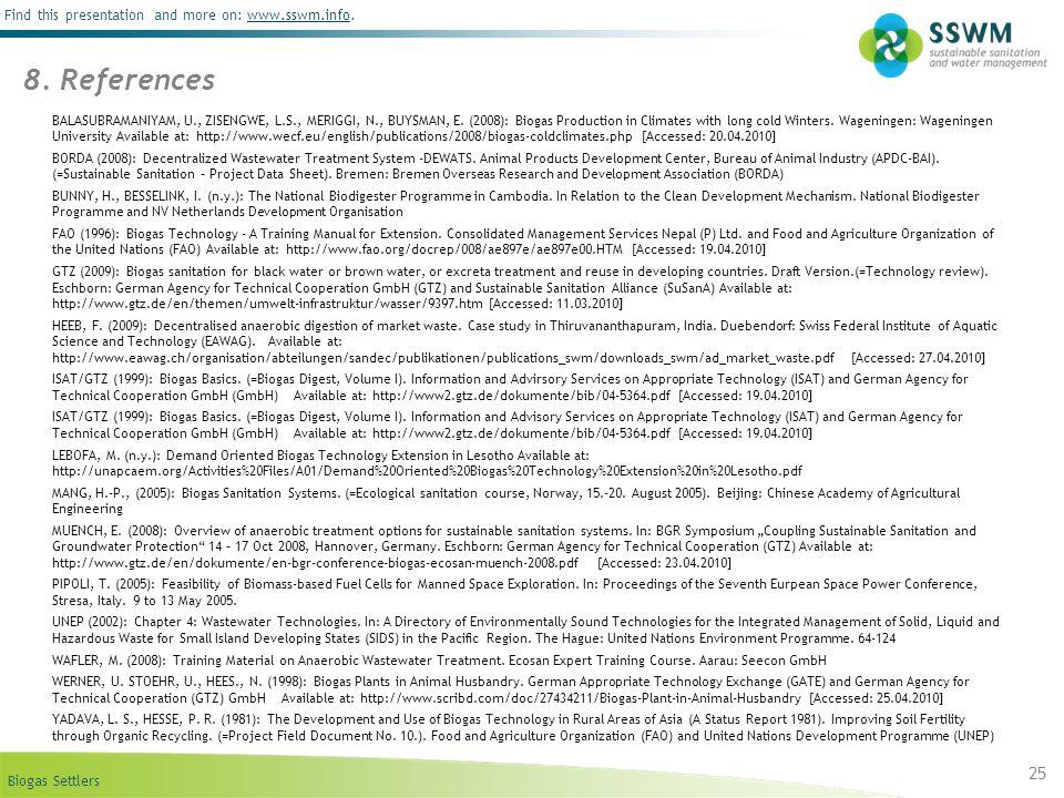 8. References BUNNY & BESSELINK (n.y.)