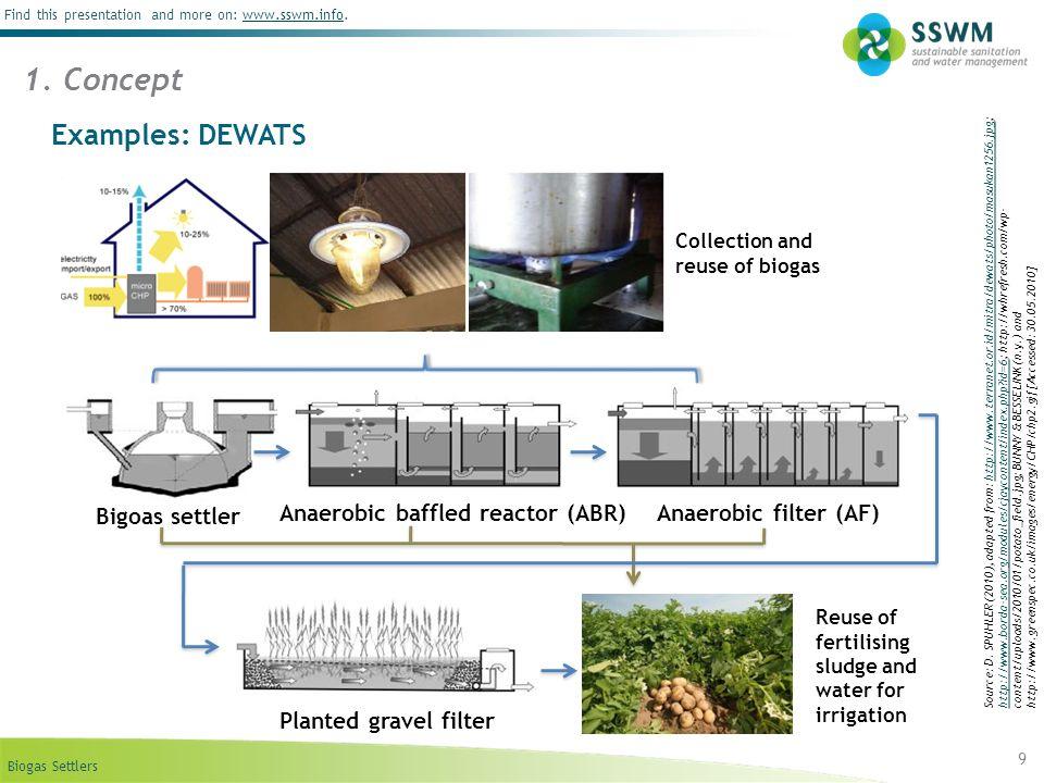 1. Concept Examples: DEWATS Bigoas settler