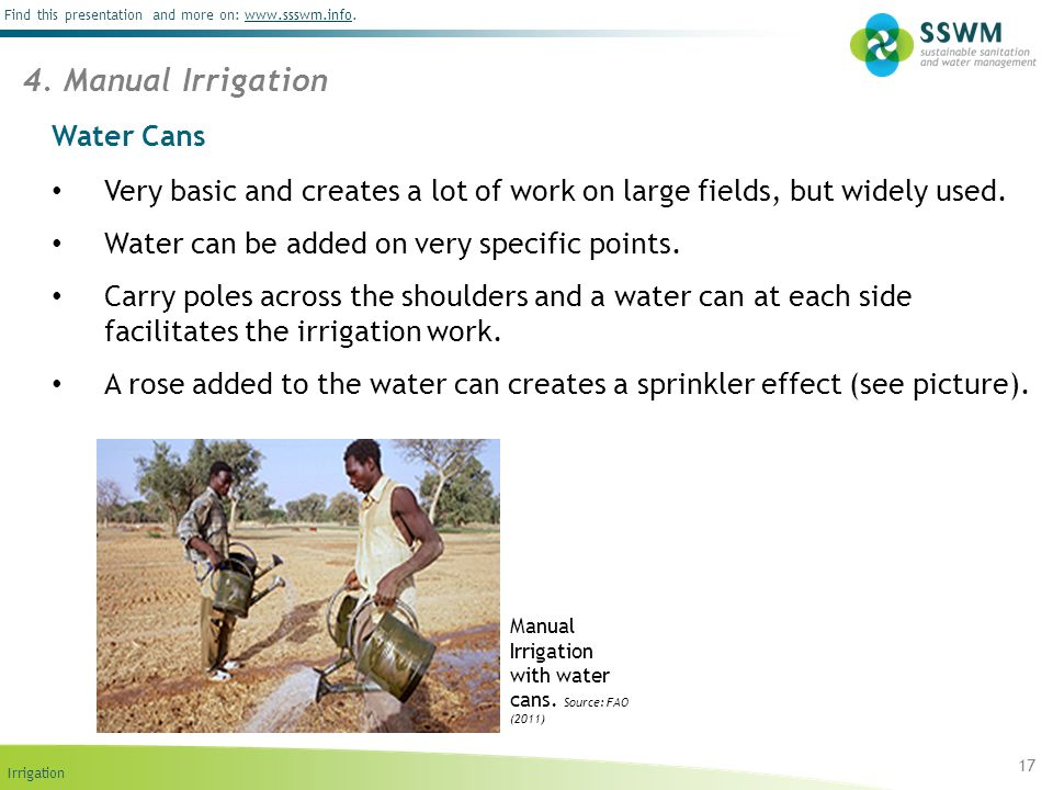 4. Manual Irrigation Water Cans