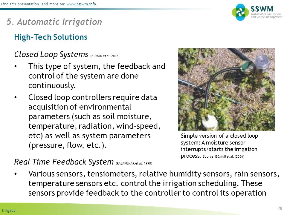 5. Automatic Irrigation High-Tech Solutions