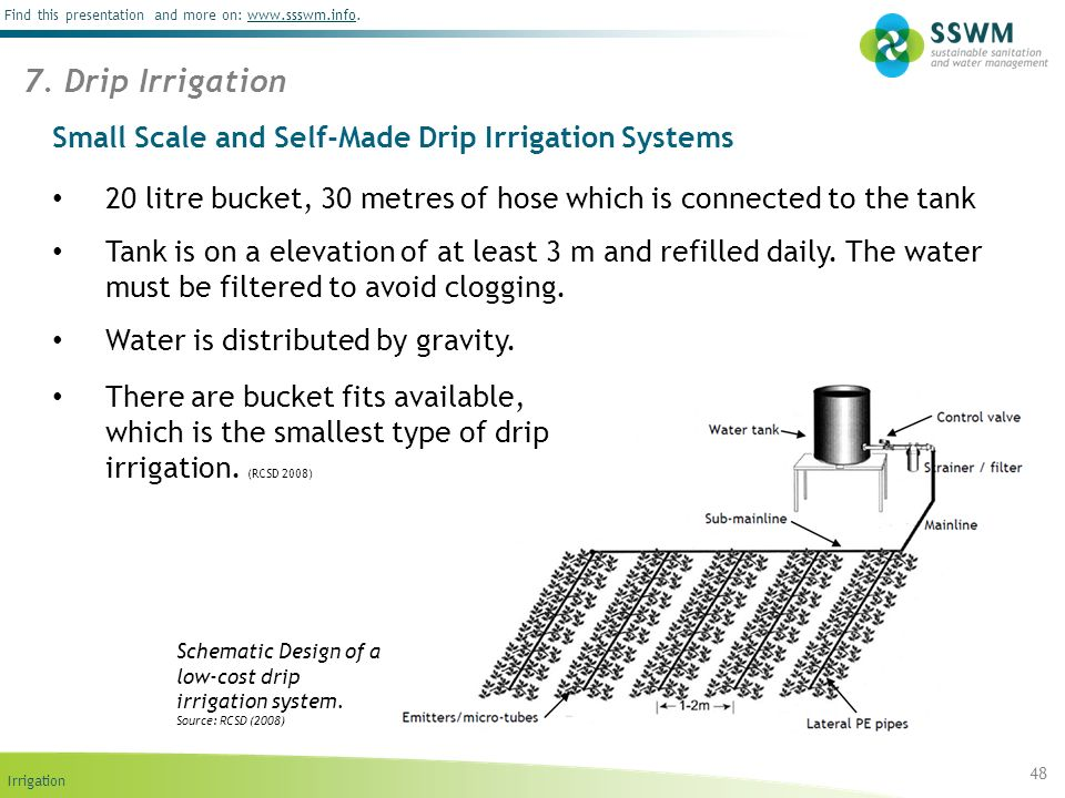 Small Scale and Self-Made Drip Irrigation Systems