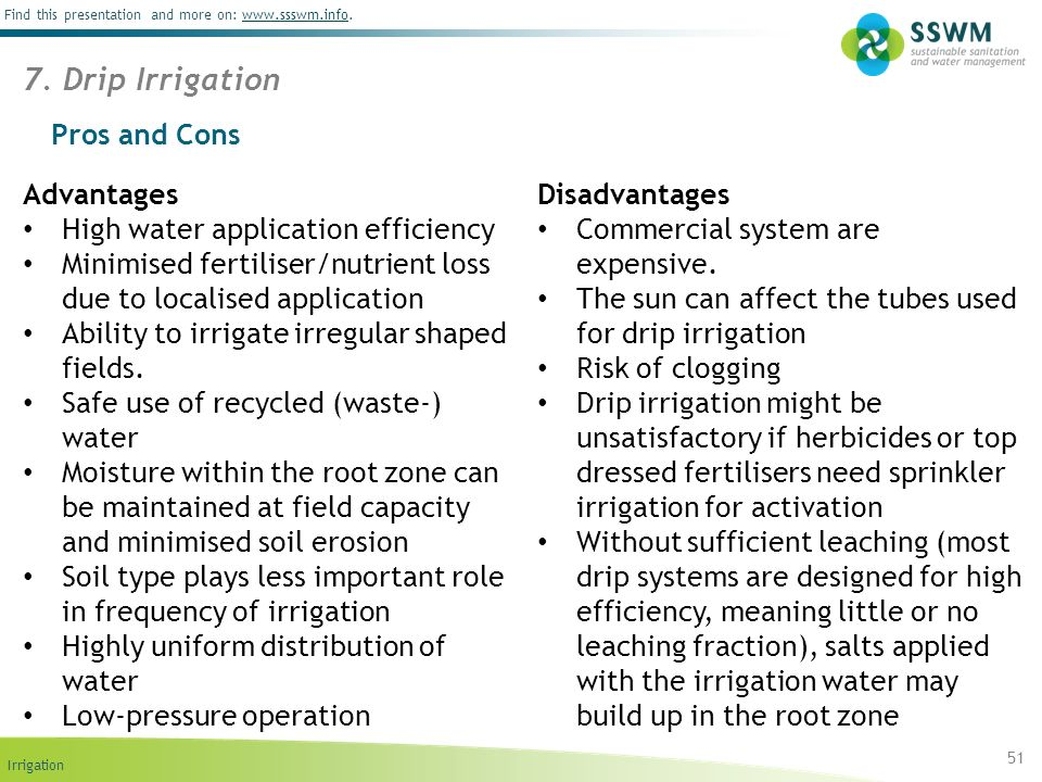 7. Drip Irrigation Pros and Cons Advantages