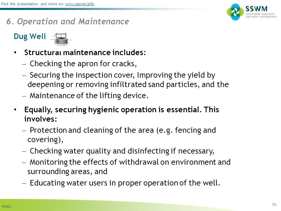 6. Operation and Maintenance