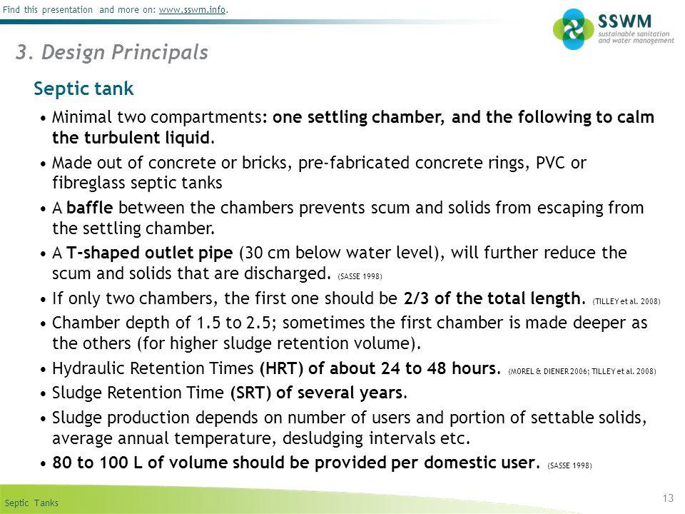 3. Design Principals Septic tank