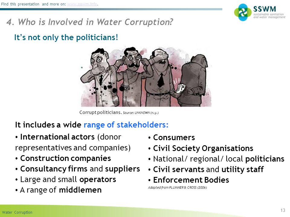 4. Who is Involved in Water Corruption