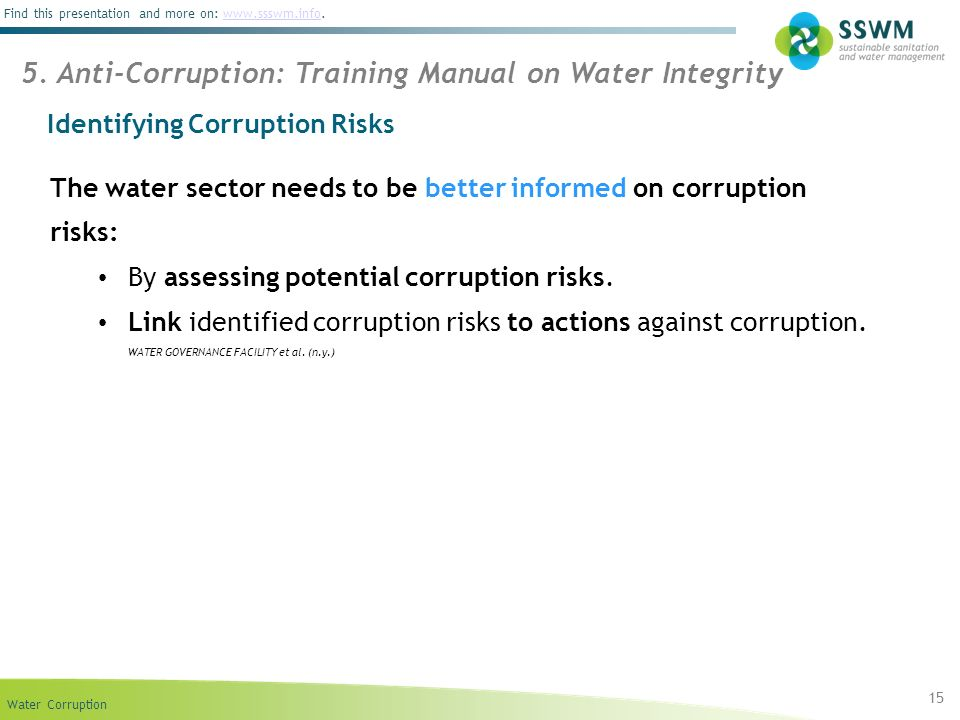 Identifying Corruption Risks