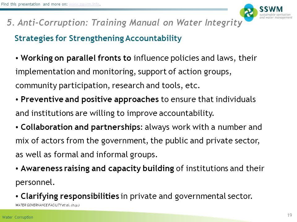 Strategies for Strengthening Accountability