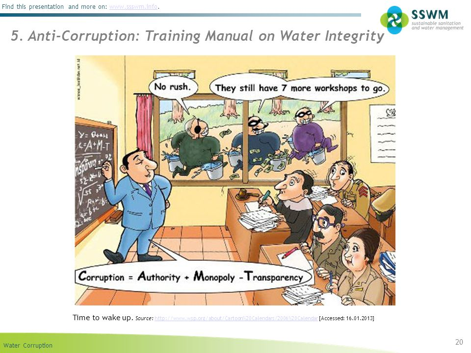 5. Anti-Corruption: Training Manual on Water Integrity