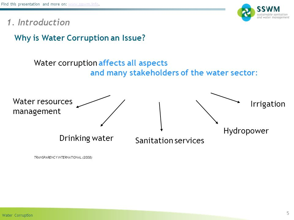 1. Introduction Why is Water Corruption an Issue