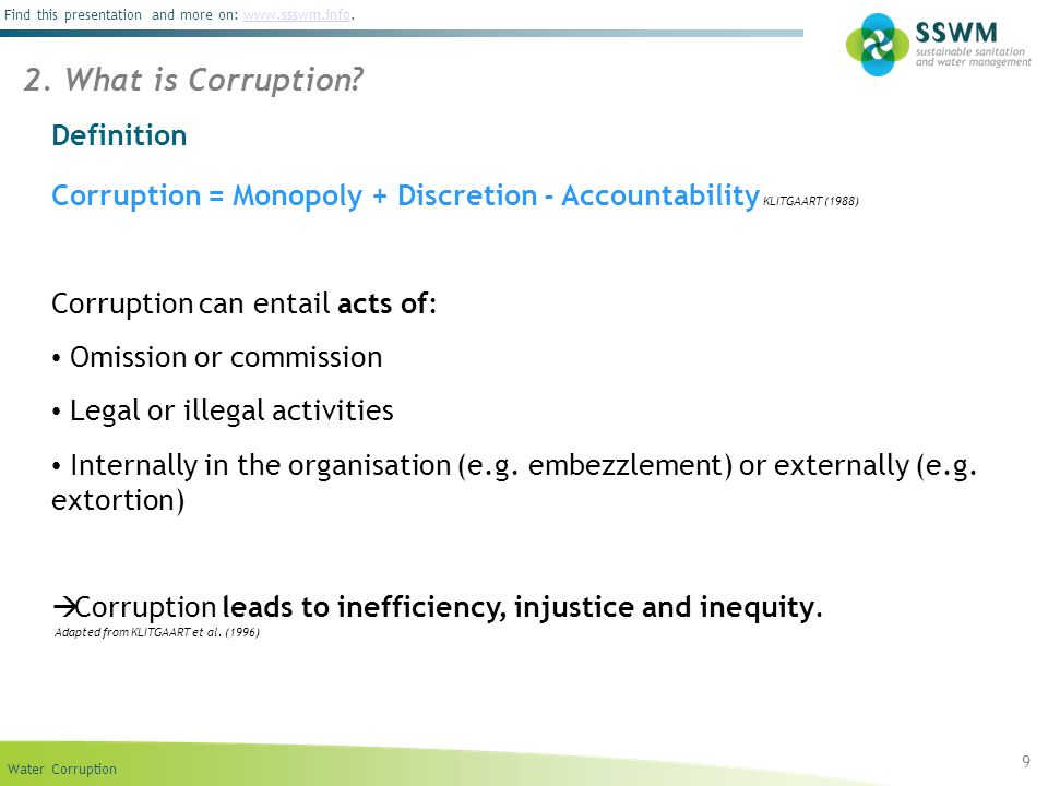 2. What is Corruption Definition