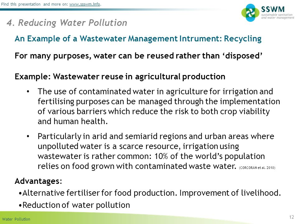 An Example of a Wastewater Management Intrument: Recycling