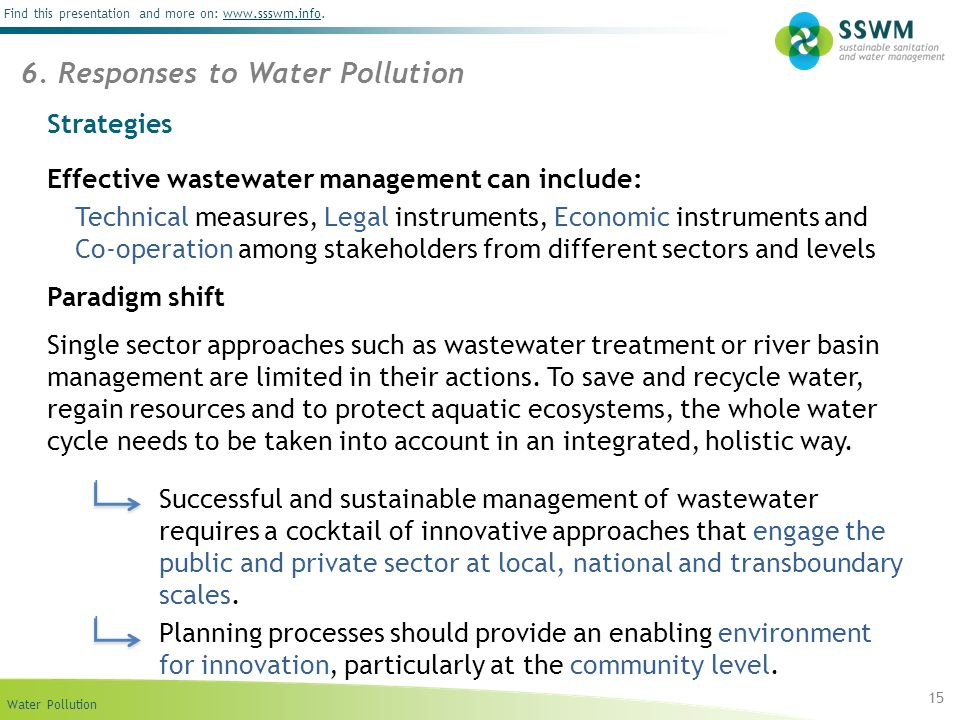 6. Responses to Water Pollution
