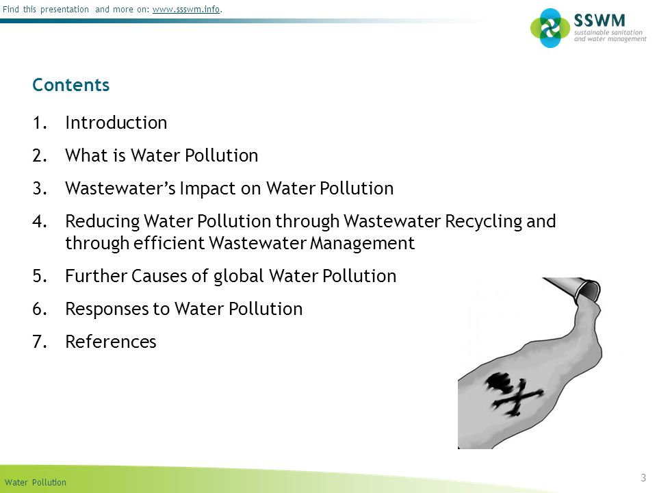 Contents Introduction. What is Water Pollution. Wastewater's Impact on Water Pollution.