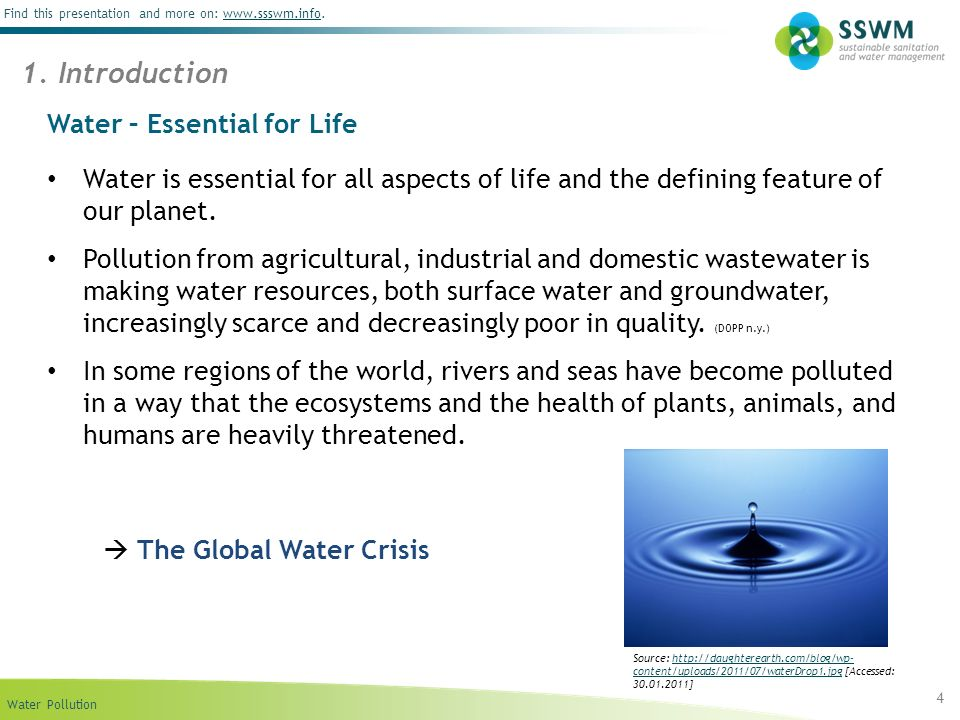 Water – Essential for Life