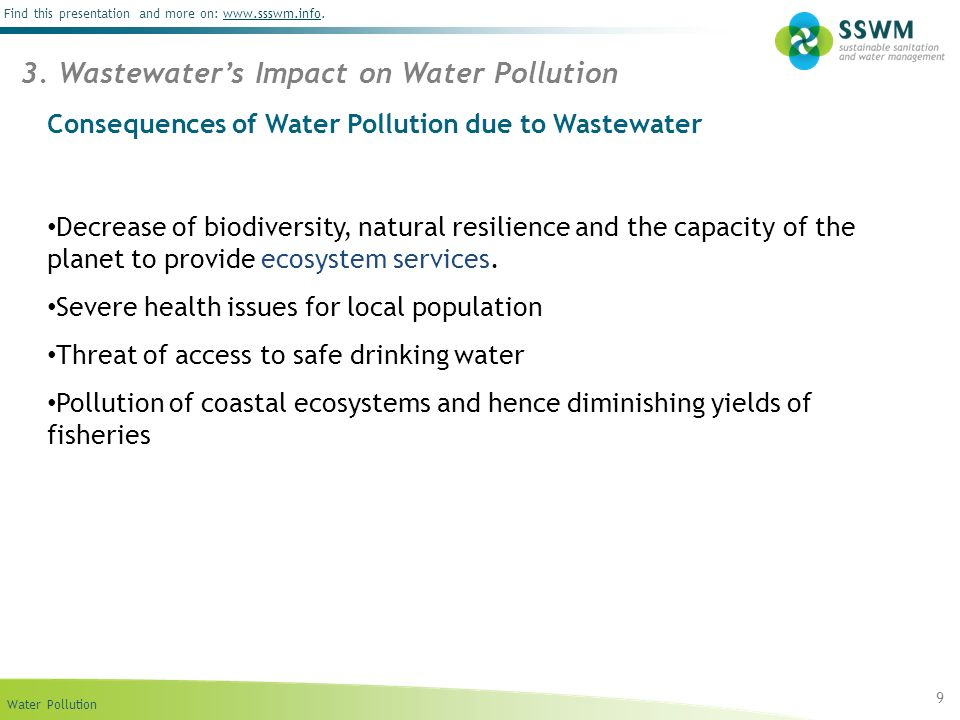 Consequences of Water Pollution due to Wastewater