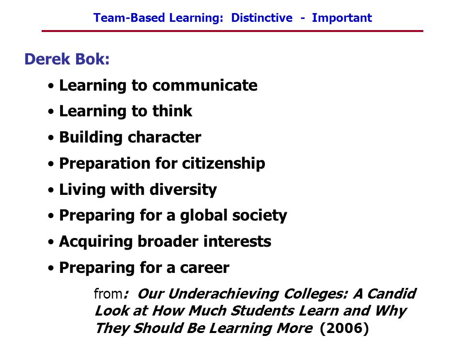 Learning to communicate Learning to think Building character