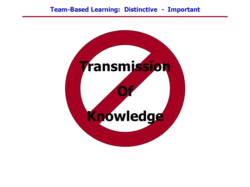 Transmission Of Knowledge