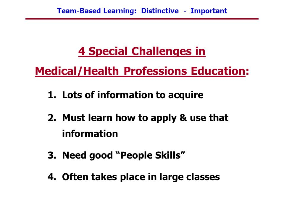 Medical/Health Professions Education:
