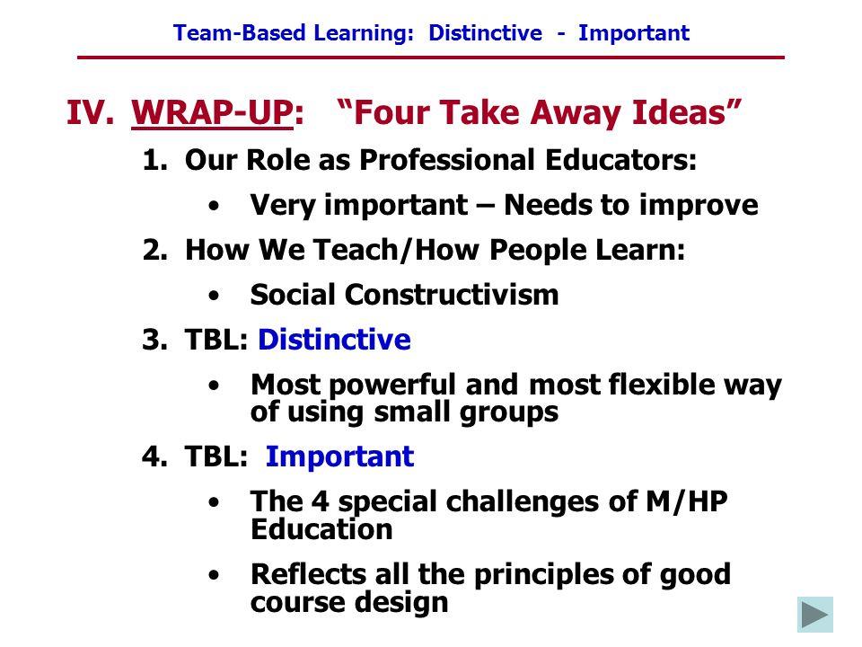 WRAP-UP: Four Take Away Ideas