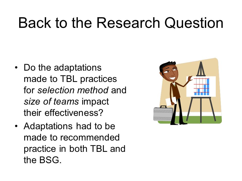 Back to the Research Question