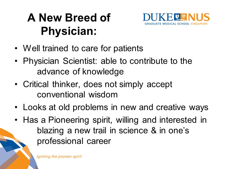 A New Breed of Physician: