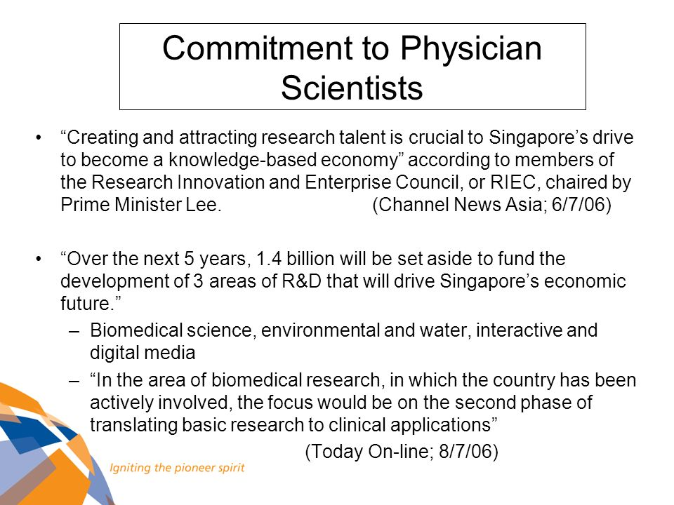 Commitment to Physician Scientists