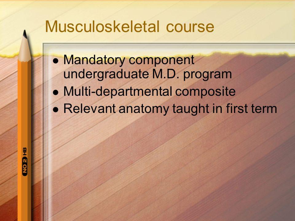 Musculoskeletal course