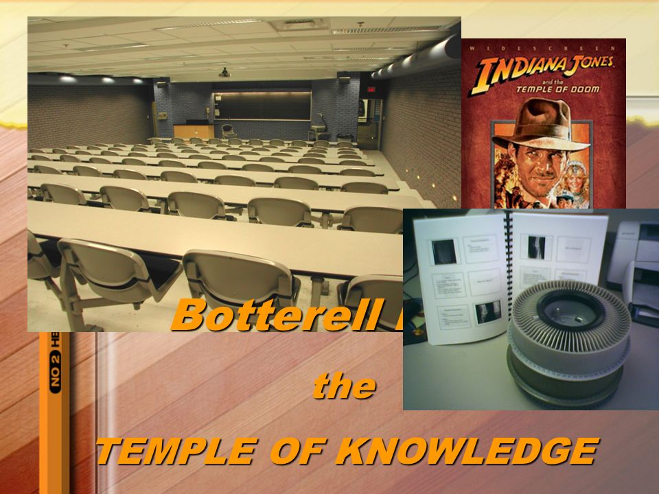 Botterell B139 the TEMPLE OF KNOWLEDGE