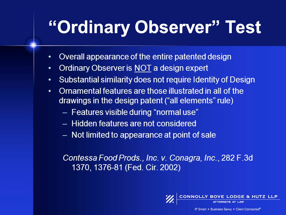 Ordinary Observer Test