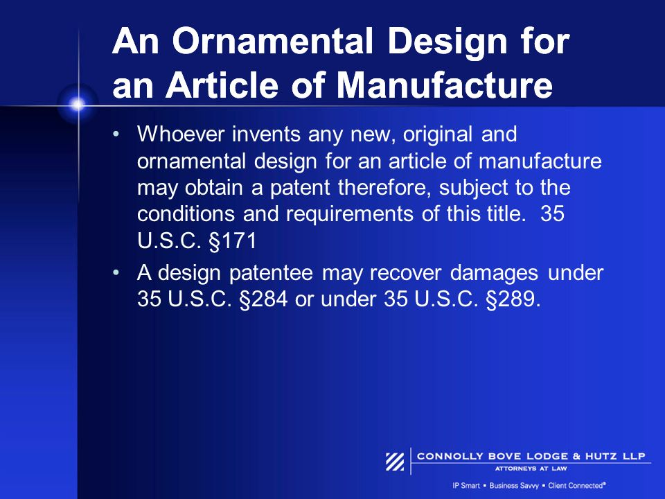 An Ornamental Design for an Article of Manufacture