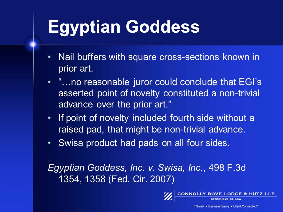 Egyptian Goddess Nail buffers with square cross-sections known in prior art.