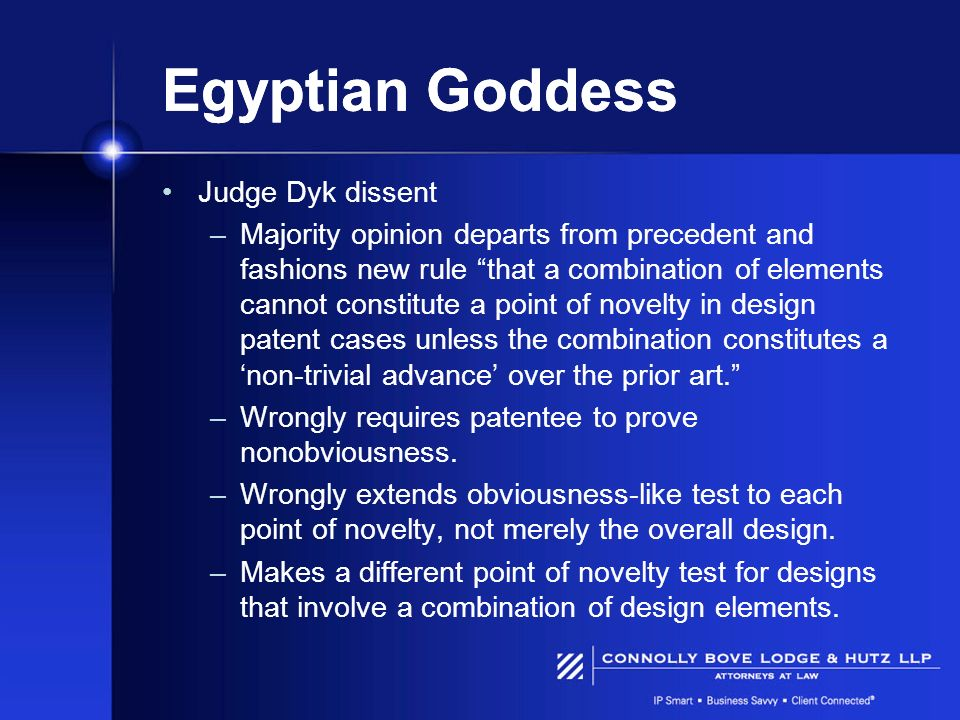 Egyptian Goddess Judge Dyk dissent
