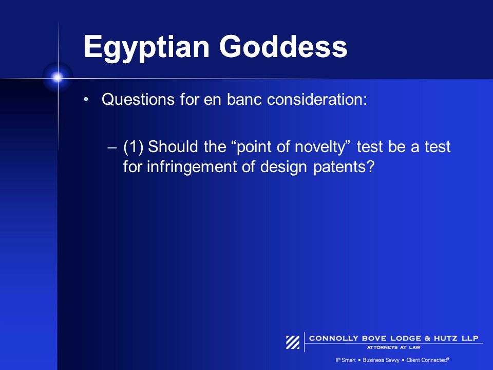 Egyptian Goddess Questions for en banc consideration: