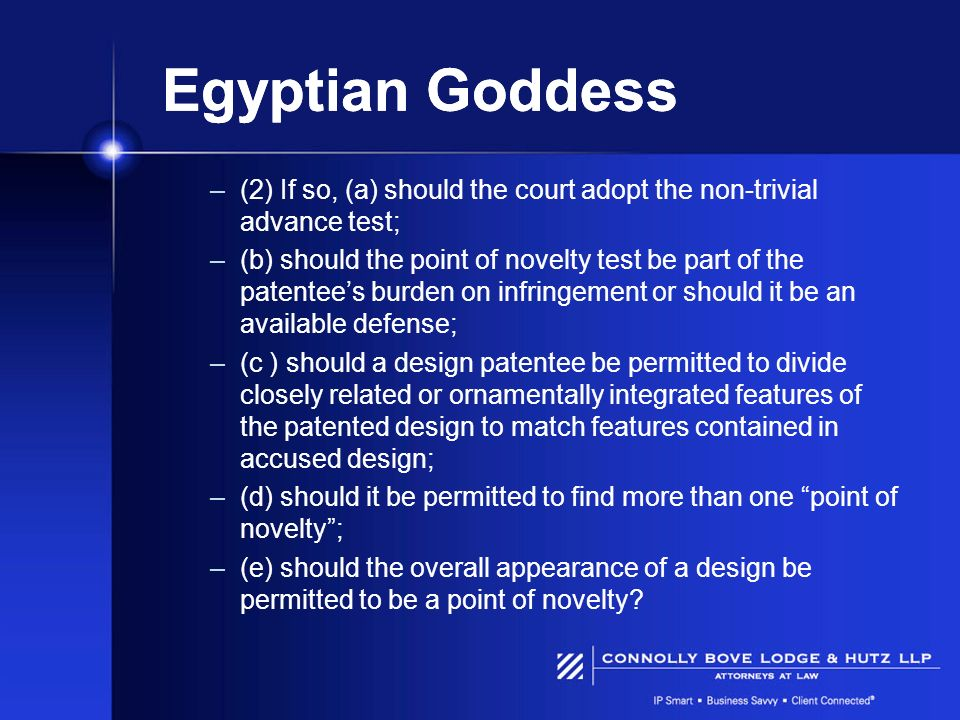 Egyptian Goddess (2) If so, (a) should the court adopt the non-trivial advance test;