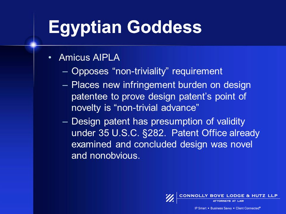 Egyptian Goddess Amicus AIPLA Opposes non-triviality requirement