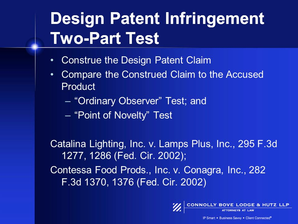 Design Patent Infringement Two-Part Test