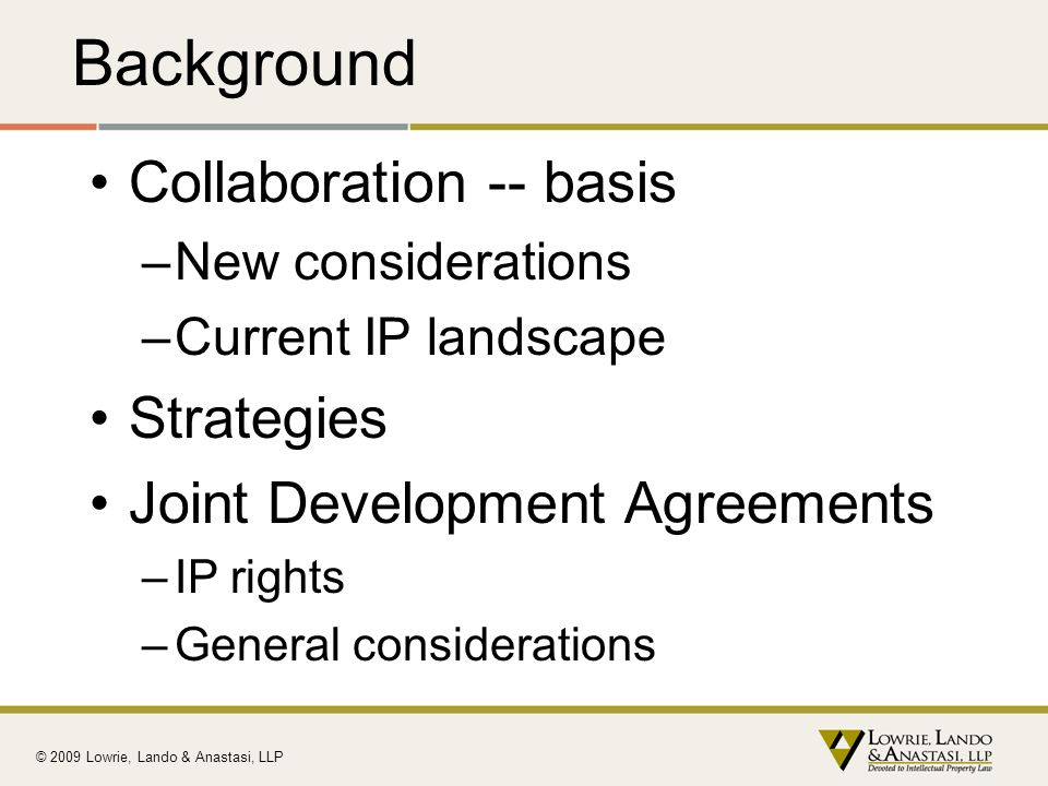 Background Collaboration -- basis Strategies