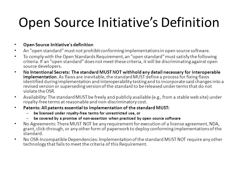 Open Source Initiative's Definition