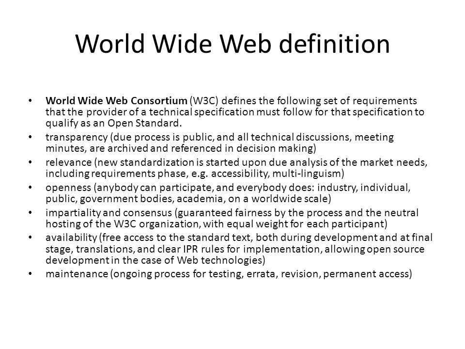 World Wide Web definition