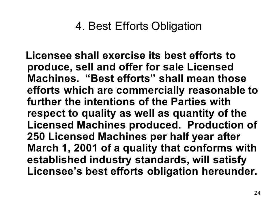 4. Best Efforts Obligation