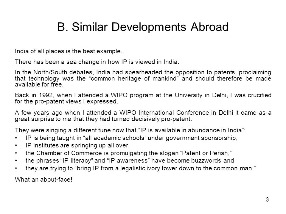 B. Similar Developments Abroad