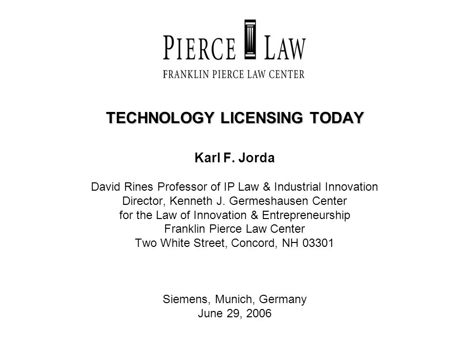 TECHNOLOGY LICENSING TODAY