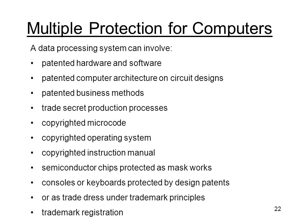 Multiple Protection for Computers