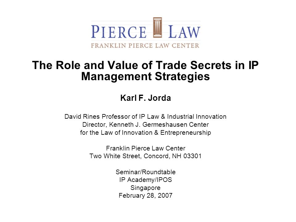 The Role and Value of Trade Secrets in IP Management Strategies