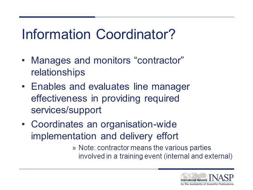 Information Coordinator
